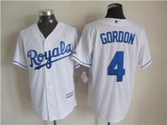 9078a17c7d3 Kansas City Royals  4 Alex Gordon White Cool Base Jersey