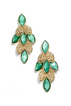 Marquise Sasha Earrings in Iridescent Mint