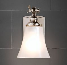 Restoration Hardware Bistro Sconce Shown Here In Polished Nickey But Would Recommend Satin Nickel Instead