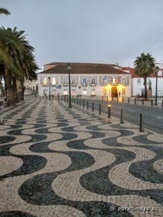 "The famous Portuguese cobblestone pavement (""calcadas"") in Cascais ~ photo by Sabine Ostermann www.pure-image.eu"
