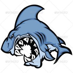 Shark Mascot Cartoon Vector Image