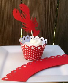 Crawfish cupcake toppers - Crawfish Boil Party - Birthday Party - Anniversary Party -  Wedding or Baby Shower - 12 Pieces. $12.00, via Etsy.