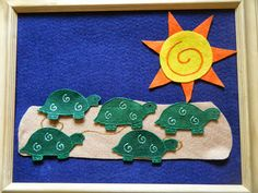 Felt Board Ideas: Turtle Felt Board Poem and Song