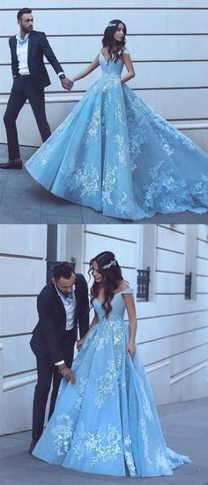 Elegant Prom Dresses, Light Blue Tulle Ball Gowns Prom Dresses Lace Appliques Off Shoulder Shop for La Femme prom dresses. Elegant long designer gowns, sexy cocktail dresses, short semi-formal dresses, and party dresses. Blue Ball Gowns, Tulle Ball Gown, Ball Gowns Prom, Ball Dresses, Vintage Ball Gowns, Xv Dresses, Elegant Bridesmaid Dresses, Prom Dresses Blue, Light Blue Quinceanera Dresses