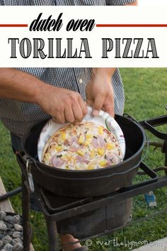 Quick and easy Dutch Oven Pizzas. Perfect for camping or a BBQ!
