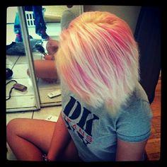 pink & white hair. <3