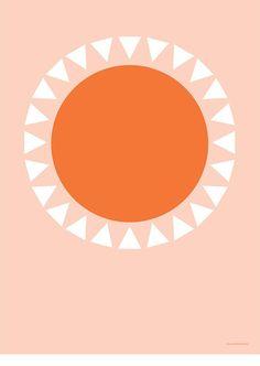 Orange Sun Poster Print