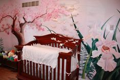 The Erfly Nursery Theme Was Continued Throughout Room By Adding Other Touches Of Nature