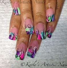 Fun abstract nails