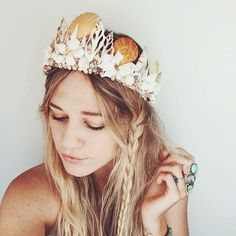 WEBSTA @ wildandfreejewelry - This new #wildandfreejewelry Mermaid Crown is my favorite thing. EVER. Made from real shells with an adjustable base so it fits all sizes! Dropping next month on my website and Etsy! 🐚✨💖 #mermaidsarereal
