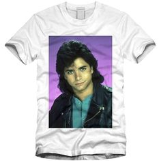 Uncle Jesse Tee (€17) ❤ liked on Polyvore featuring tops, t-shirts, white tee, white t shirt and white top