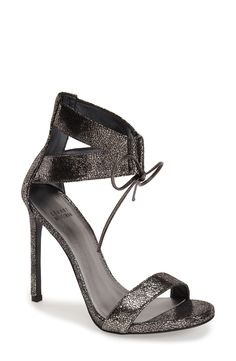 Love the crackled metallic finish of these standout stilettos!