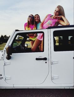 I've always wanted to do this with my best friends. But I don't have a Jeep.