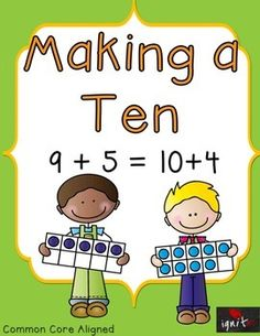 Making a Ten is a 3 day lesson that allows students to practice with visuals for making ten then connecting the ten frames to number bonds. The last component of the 3 day lesson is to apply the making a ten strategy to add numbers that equal more than 10.