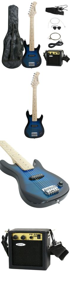 musical instruments: Electric Guitar Kids 30 Blue Guitar With Amp + Case + Strap And More New BUY IT NOW ONLY: $55.0