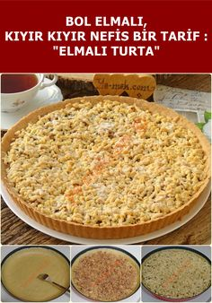 Elmalı Turta Tarifi A delicious pie recipe with plenty of apples and mortar, scattered in the mouth.
