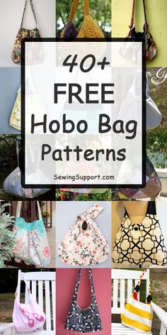 Over 40 Free Hobo Bag sewing patterns, tutorials, and diy projects. Crossbody, s… Over 40 Free Hobo Bag sewing patterns, Sewing Hacks, Sewing Tutorials, Sewing Tips, Hobo Bag Tutorials, Bags Sewing, Cross Body, Sacs Tote Bags, Sling Bags, Hobo Bags