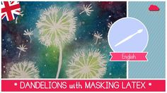 Dandelion ART: How to paint dandelions with watercolors and masking latex (EASY) Watercolor Beginner, Watercolor Video, Step By Step Watercolor, Watercolour Tutorials, Watercolor Pencils, Watercolor Techniques, Watercolor And Ink, Ink Painting, Watercolor Paintings