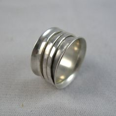 Silver Spinning Ring Bright Sterling Silver by TheCreativeFringe