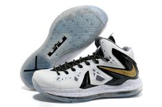 sports shoes a2667 57678 Sale Discount Nike LeBron X PS Elite White Metallic Gold - Black Basketball  Shoes Shop