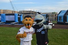Fang from the Timber Rattlers and Gil from the Lakeshore Chinooks www.olympus-mascots.com