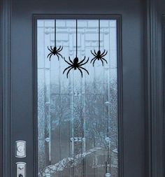 Creepy Spider vinyl wall decals sticker set for your spooky Halloween fall decor
