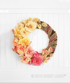 Create a DIY floral wreath with a just-from-the-garden look. We'll show you how!