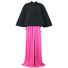 1stdibs - Rare Schiaparelli Black  Quilted Faille Evening Cape, 1951 explore items from 1,700  global dealers at 1stdibs.com