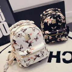 stacy bag hot sale new arrivals girl floral printing backpack lady casual travel backpack leisure bags Black Handbags, Luxury Handbags, Fashion Handbags, Purses And Handbags, Fashion Bags, Fashion Backpack, Leather Handbags, Cheap Handbags, Popular Handbags