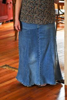 ~Refashioned Jean Skirts~   Reformation Acres