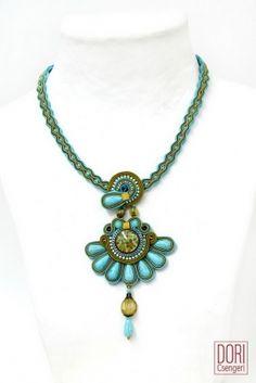 """Alegra Floral"" Turquoise Necklace from Dori Csengeri"