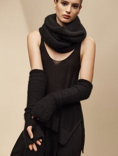 black cloud cashmere silk