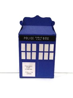 Doctor Who TARDIS favor boxes