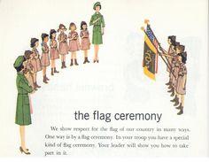 Girl Scouts USA Salute the Flag - A History Through Handbooks