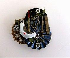 Brass Enamel Nurses Charm Brooch Pin by ediesbest on Etsy, $9.95