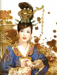 Amazing artwork of Dezhen(Der Jen)徳珍画集 – from the Illustration Collection of the ancient Chinese lady.