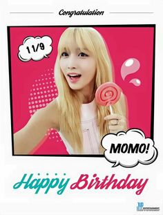 HAPPY BIRTHDAY MOMO #TWICEMOMODAY