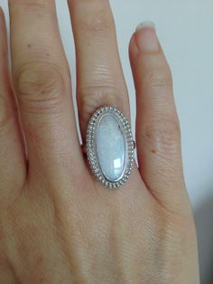 Opal Ring Handmade Sterling Silver and Fine Silver Elegant 1920 Style Ring Genuine Opal Ring