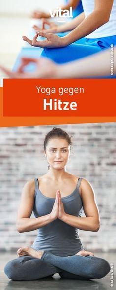 Yoga gegen Hitze: So kühlt Ihr Euren Körper ab In your office is it as hot as in a sauna? The sweat runs down you all over the body just like that? These yoga exercises will help you with the heat! Yoga Fitness, Sport Fitness, Health Fitness, Corps Yoga, Finger Yoga, Yoga Training, Eco Slim, Hitt Workout, Sup Yoga