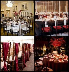 red brown wedding