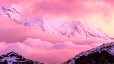 Pink hair, pink mountains, foggy mountains, places around the world, pink w Nature Rose, Pink Nature, Pink Mountains, Foggy Mountains, Mountain Photography, Free Photography, Infrared Photography, Landscape Photography, Pink Wallpaper