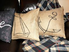 3 pillows on couch, Handmade Pillow Cases with Personality by Make Lemonade Shop theboondocksblog.com