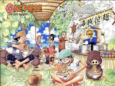 Eiichiro Oda. One Piece. Usopp, Luffy, Sanji, Zoro, Nami, Robin, Chopper