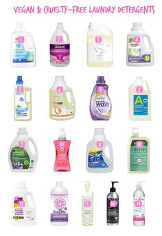 Vegan and Cruelty-Free Liquid Landry Detergents