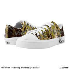 Half Dome Framed by Branches Low-Top Sneakers - Printed Unisex Canvas Slip-On #Shoes Creative Casual #Footwear #Fashion #Designs From Talented Artists - #sneakers #feet #fashion #design #fashiondesign #designer #fashiondesigner #style - Look sporty stylish and elegant in a pair of unique custom sneakers - Each pair of custom Low Top ZIPZ Shoes is designed so you can fit your style to any wardrobe mood party or occasion - Fashionable sneakers for kids and adults give you a unique and…