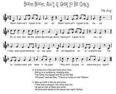 Beth's Music Notes: Boom Boom! Ain't it Great it Be Crazy? I love this song!