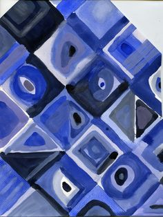 that artist woman: Using Color Cells - In the style of Chuck Close