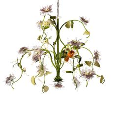 Passion Flower chandelier Inspired by classical botanical illustrations, the Passion Flower chandelier is a beautiful three dimensional interpretation