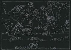 Walter Battiss, Sheet Sizes, White Ink, South Africa, White Tattoos