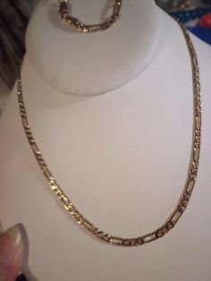 """MEN'S/WOMEN'S 24K GOLD PLATED FIGARO 4MM - 24"""" CHAIN NECKLACE #Unbranded #Chain"""